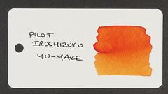 Pilot Iroshizuku Yu-Yake - Word Card