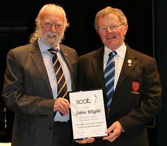 John Blight, LGB receiving the 50 years long service award