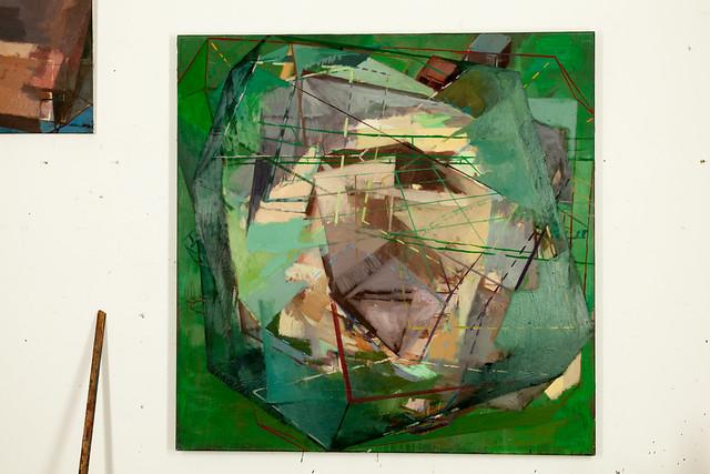 Potentialbarriere, Eggtempera/Oil, 120 x120 cm, 2014