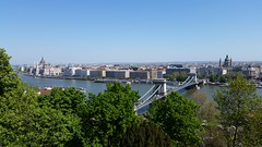 Budapest Chain Bridge from Castle Hill