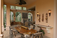 Custom Luxury Home - outdoor dining 4