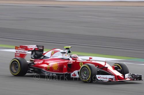 Kimi Raikkonen in his Ferrari in Free Practice 2 during the 2016 British Grand Prix