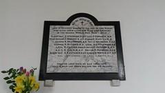 Great Oakley WW2 memorial plaque