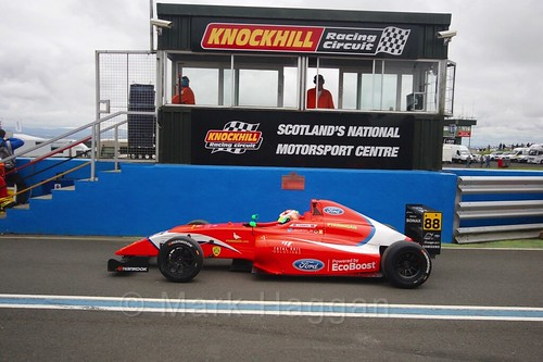 Jack Martin in British Formula Four race 2 during the BTCC Knockhill Weekend 2016