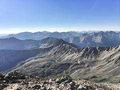View from La Plata Peak summit to the southeast.