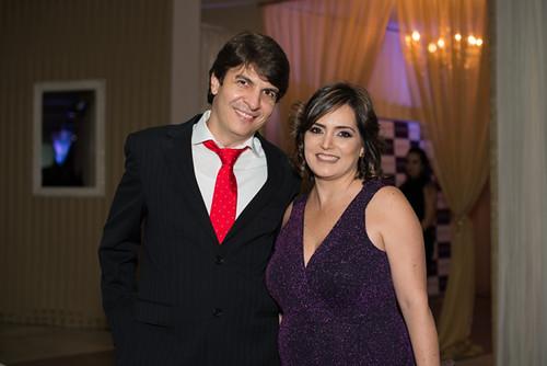 Alysson Castro Lage e Raquel Faria, gerente de comunicação da Aperam
