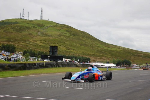 Jamie Caroline in British Formula Four race 2 during the BTCC Knockhill Weekend 2016