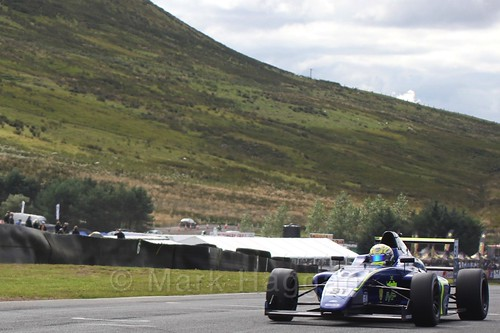 Max Fewtrell in the final British Formula Four race during the BTCC Knockhill Weekend 2016