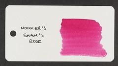 Noodler's Shah's Rose - Word Card