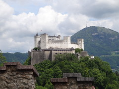 Hohensalzburg fortress from one of the defensive wall ramparts