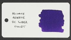 Private Reserve DC Super Violet - Word Card