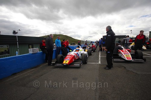 Alex Quinn ahead of the final British Formula Four race during the BTCC Knockhill Weekend 2016