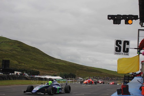 James Pull in British Formula Four race 2 during the BTCC Knockhill Weekend 2016
