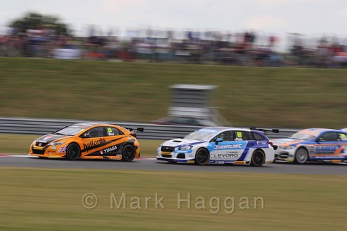 Touring Car action during the BTCC 2016 Weekend at Snetterton