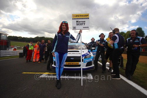 Warren Scott on the grid during the BTCC Brands Hatch Finale Weekend October 2016