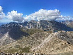 Looking to the southeast from the summit.  Notice the storm starting to build.
