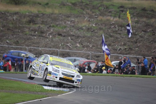 Dave Newsham in BTCC race one at Knockhill Weekend 2016