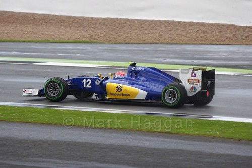 Felipe Nasr in his Sauber in the 2016 British Grand Prix