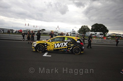 Adam Morgan's car during the Grid Walks at the BTCC 2016 Weekend at Snetterton