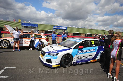 James Cole's car during the Grid Walks at the BTCC 2016 Weekend at Snetterton