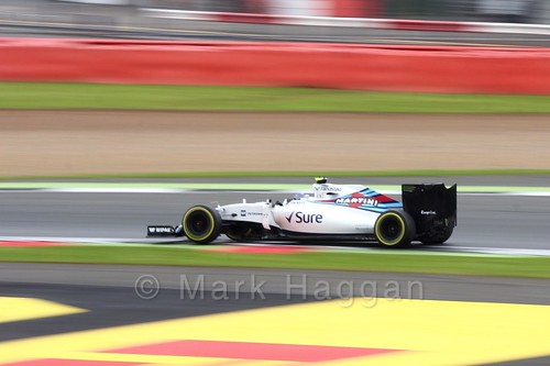 Valtteri Bottas in his Williams during qualifying for the 2016 British Grand Prix