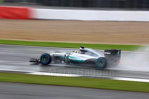 Lewis Hamilton in his Mercedes during the 2016 British Grand Prix