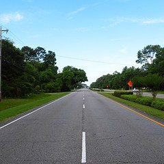 The Road Ahead. Day 54. Rt.17 in Pawleys Island, SC. Family friend is putting me up in a hotel room for the night, only 15 miles to a hot shower. #TheWorldWalk #travel #road #sc #wwtheroadahead