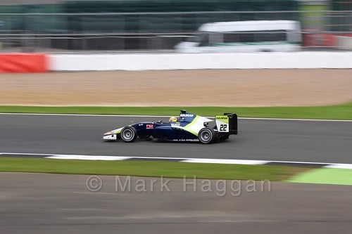 Alex Palou in the Campos Racing car in qualifying for GP3 at the 2016 British Grand Prix