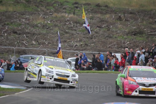 Hunter Abbott in race one during the BTCC weekend at Knockhill, August 2016