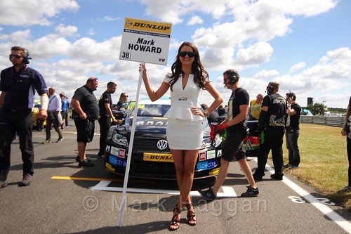 Mark Howard's car during the Grid Walks at the BTCC 2016 Weekend at Snetterton