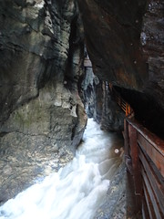 The Liechensteinklamm Gorge - fantastic on the edge walkways right over the roaring water takes you to a ferocious waterfall