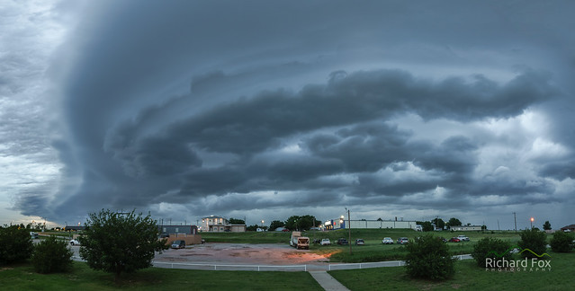 An outflow boundary, also known as a gust front