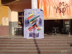 """Follow Me"" Poster in front of Theater Gjilan/Gnjilane"