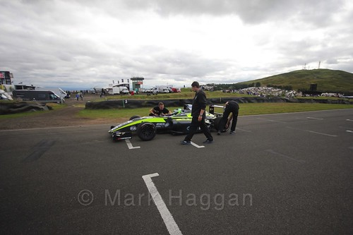 Zane Goddard on the grid ahead of British Formula Four race 3 during the BTCC Knockhill Weekend 2016