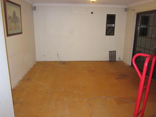 Carpet all gone!