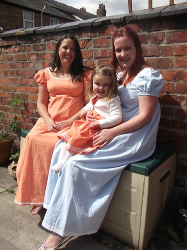 Simplicity 4055 Regency Gowns & toddler dress - Me Made May 2012 - Day 6