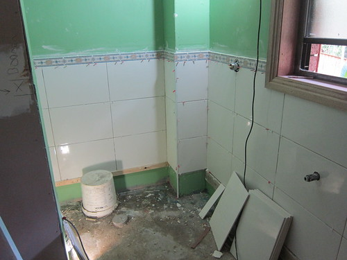 Progress pic of the tiling