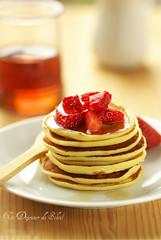 Pancakes au lait ribot et sirop d'érable