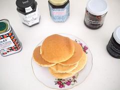 Wholewheat Pancakes and Jam