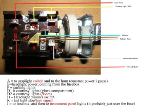 Wiring Courtesy lights to headlight switch  FFCars