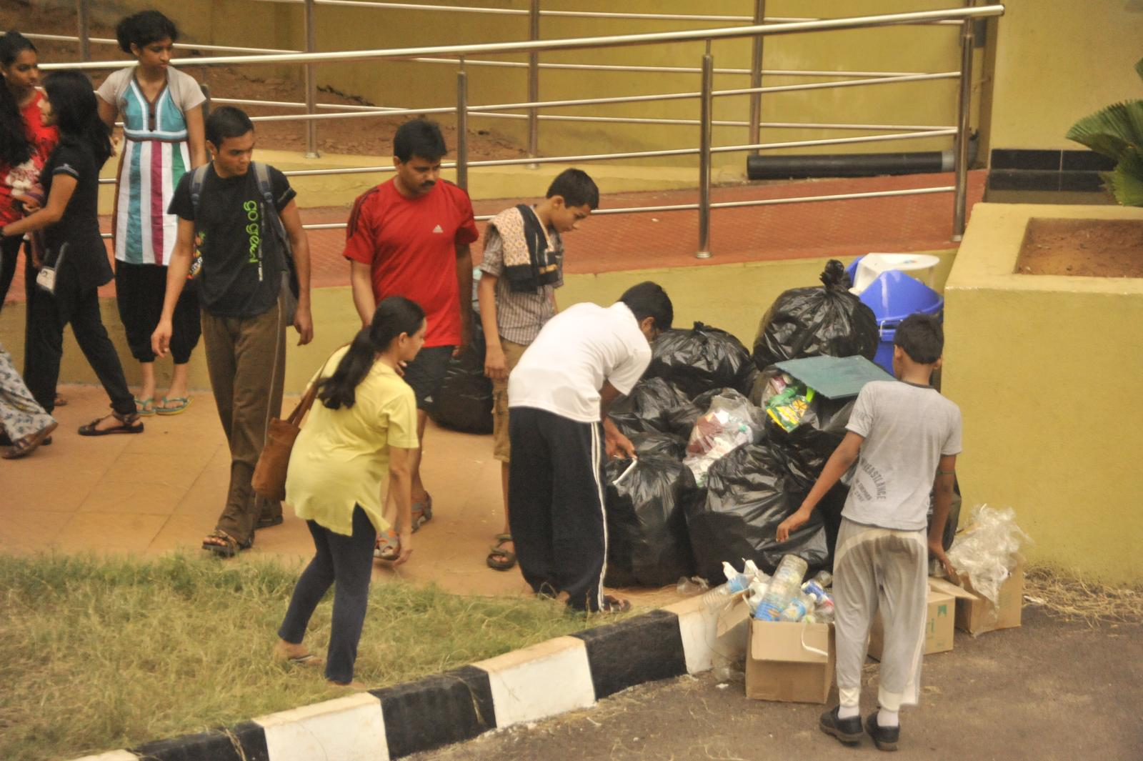 then came the shramdaan, that kept the campus clean