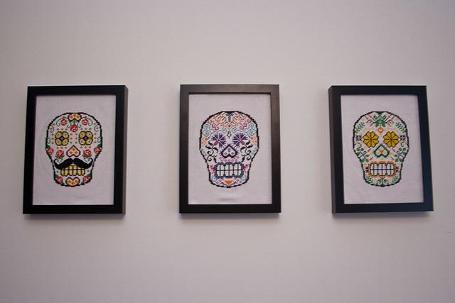 Sugar Skull Triptych