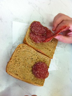 dry, sad salami sandwich @ Split airport