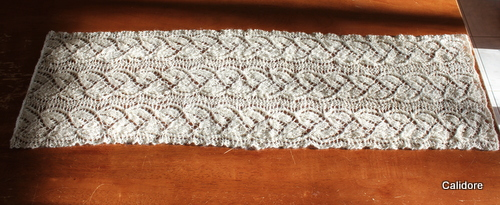 Silver Bells Table Runner