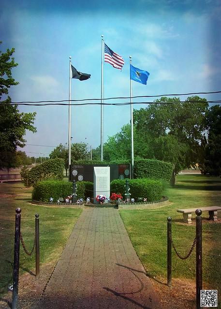 Vietnam Memorial in Central Park, Broken Arrow, OK