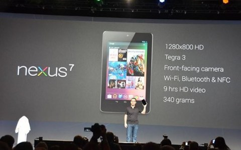 Google Nexus 7 tablet announcement at the Google I/O Developer Conference in San Francisco