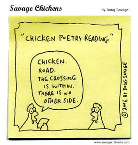 Chicken poetry reading