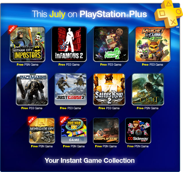 PS Plus July 2012