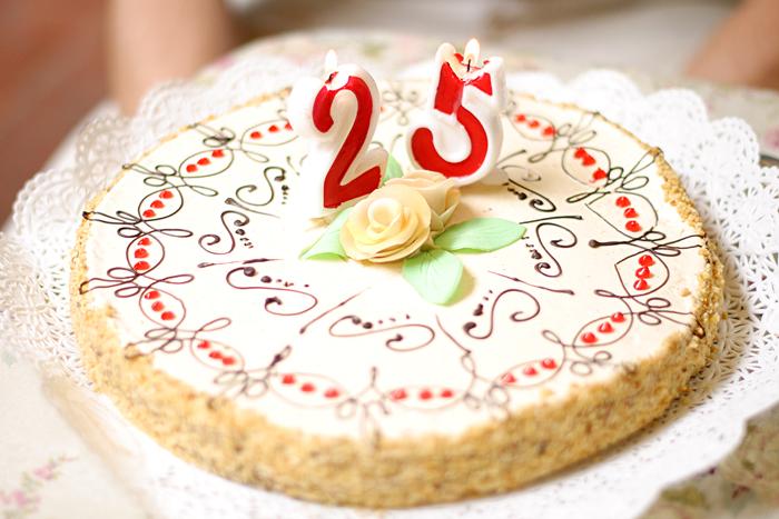 25th Birthday Candles