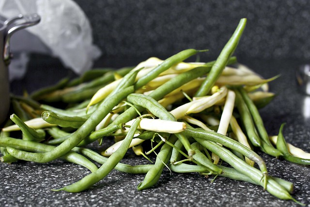 pile of pole beans
